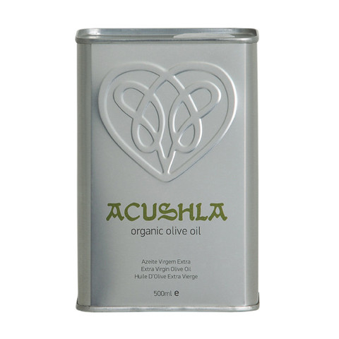 Acushla organic olive oil - can