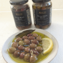 Pitted Green Olives in Extra Virgin Olive Oil